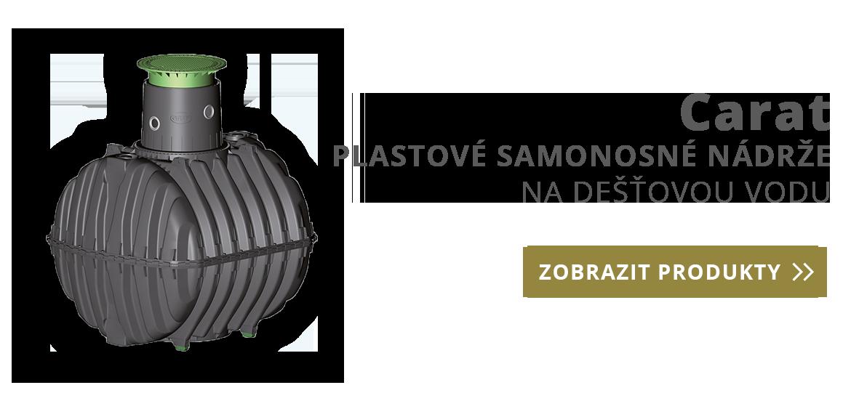 Carat - plastové samonosné nádrže na dešťovou vodu