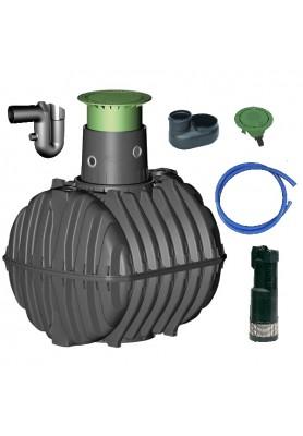 Využití dešťové vody, zavlažování zahrady, sestava zahrada basic - 2700 l