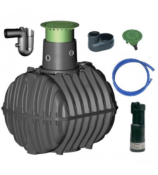 Využití dešťové vody, zavlažování zahrady, sestava zahrada basic - 6500 l