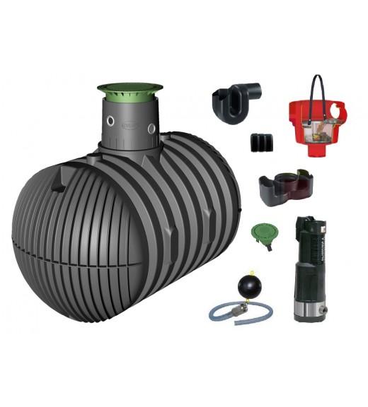 Využití dešťové vody, zavlažování zahrady, sestava zahrada komfort - 8500 l