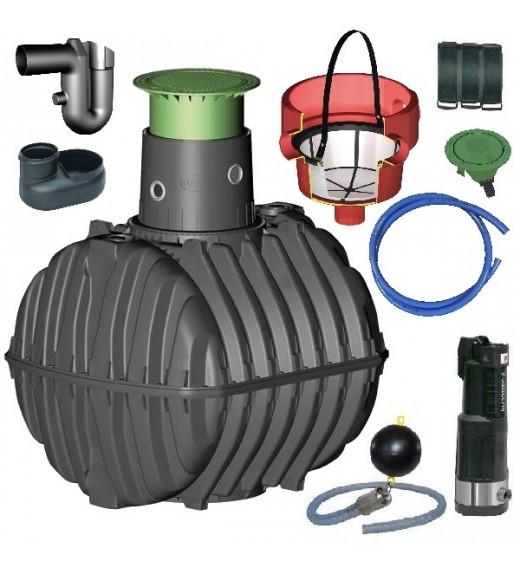 Využití dešťové vody, zavlažování zahrady, sestava zahrada komfort - 3750 l